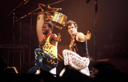 830x532 chanteur sud africain johnny clegg droite lors concert zenith paris 1988 groupe savuka