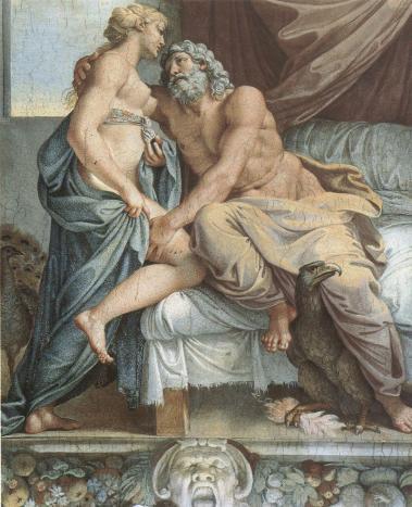 Jupiter and juno annibale carracci 1597 farnese gallery rome